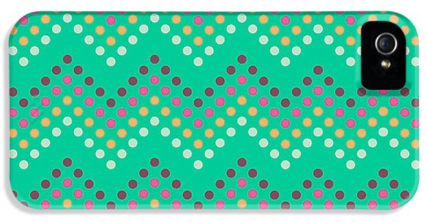 Pastel Colors iPhone 5s Case - Dotted Lines Zigzag Pattern With by Hakki Arslan