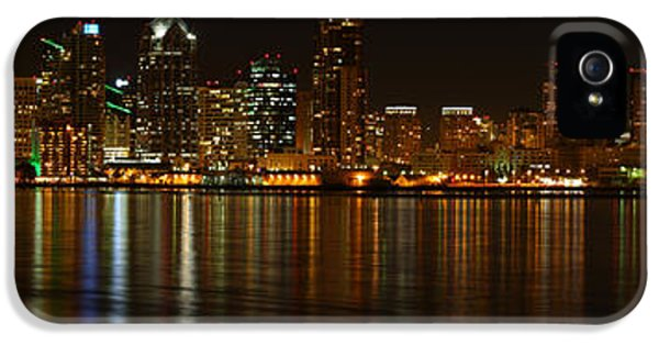IPhone 5s Case featuring the photograph Downtown San Diego At Night From Harbor Drive by Nathan Rupert