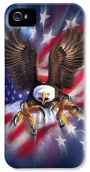 Eagle iPhone 5s Case - Eagle Burst by Jerry LoFaro