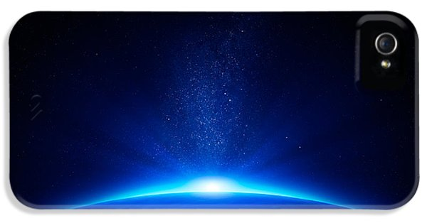 Beach iPhone 5s Case - Earth Sunrise In Space by Johan Swanepoel