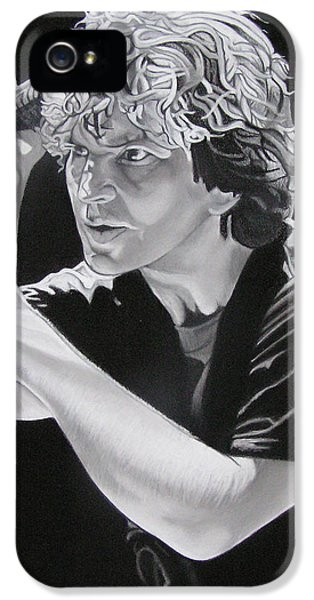 Eddie Vedder Black And White IPhone 5s Case by Joshua Morton