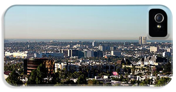 Elevated View Of City, Los Angeles IPhone 5s Case by Panoramic Images