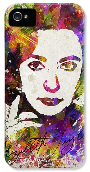 Elizabeth Taylor In Color IPhone 5s Case by Aged Pixel