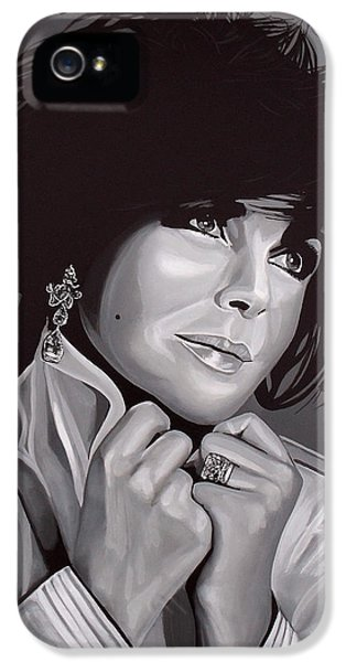 Elizabeth Taylor IPhone 5s Case by Paul Meijering