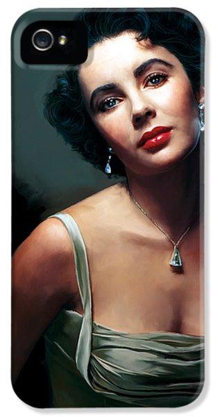Elizabeth Taylor IPhone 5s Case by Paul Tagliamonte