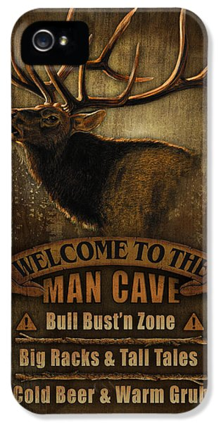Elk Man Cave Sign IPhone 5s Case