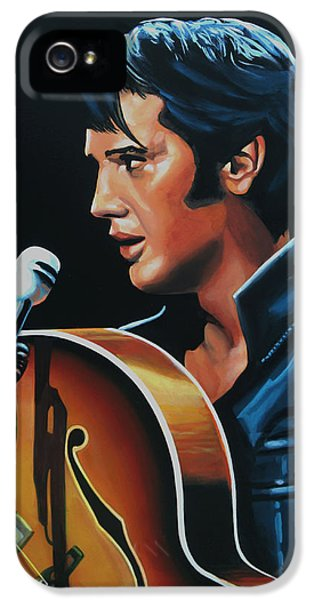 Rock And Roll iPhone 5s Case - Elvis Presley 3 Painting by Paul Meijering