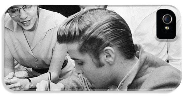 Elvis Presley Meeting Fans 1956 IPhone 5s Case