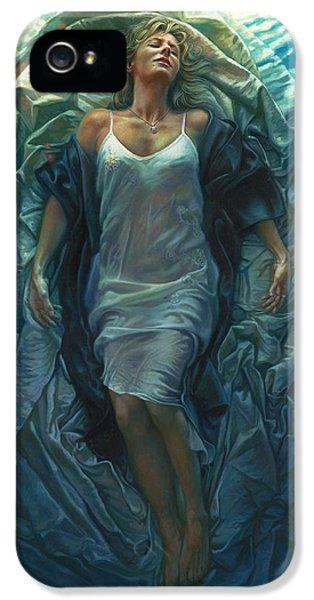 Water Ocean iPhone 5s Case - Emerge Painting by Mia Tavonatti
