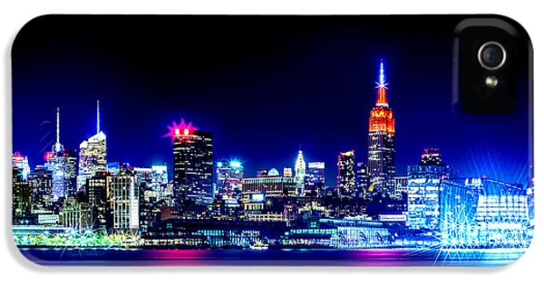 Empire State At Night IPhone 5s Case by Az Jackson