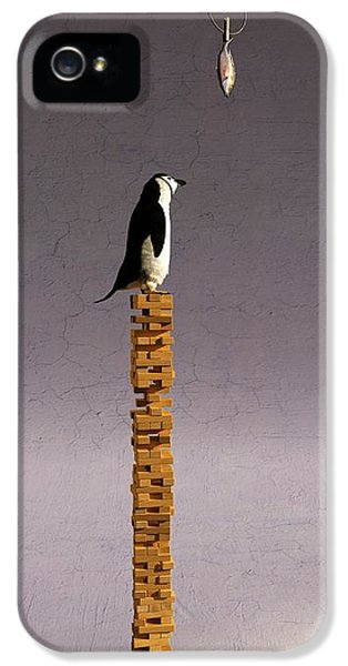 Penguin iPhone 5s Case - Equilibrium V by Cynthia Decker