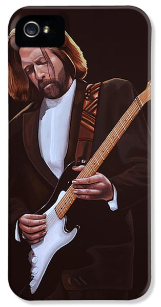 Eric Clapton Painting IPhone 5s Case by Paul Meijering