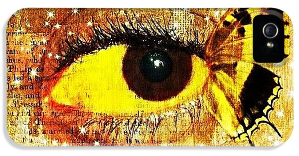Edit iPhone 5s Case - #eye #butterfly #brown #black #edit by Tatyanna Spears