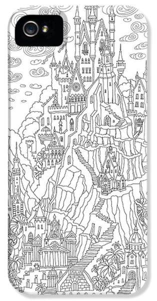 Castle iPhone 5s Case - Fantasy Landscape. Fairy Tale Castle On by L. Kramer
