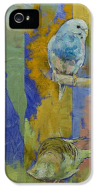 Parakeet iPhone 5s Case - Feng Shui Parakeets by Michael Creese