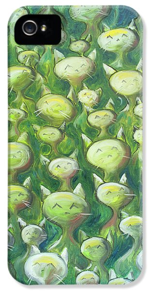 Cat iPhone 5s Case - Field Of Cats by Nik Helbig