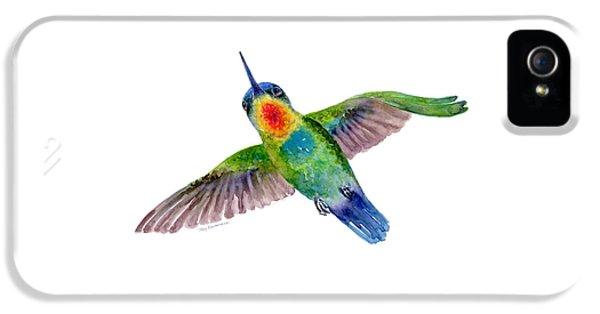 Fiery-throated Hummingbird IPhone 5s Case by Amy Kirkpatrick