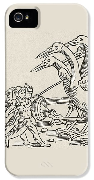 Fight Between Pygmies And Cranes. A Story From Greek Mythology IPhone 5s Case by English School