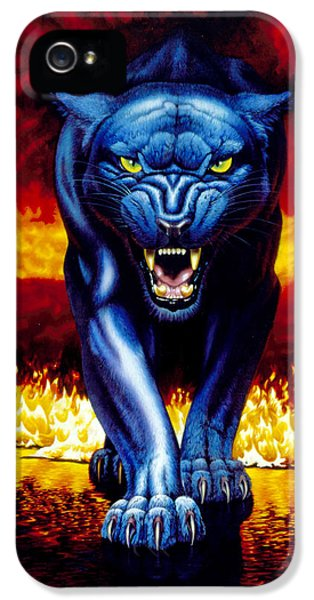 Fire Panther IPhone 5s Case by MGL Studio - Chris Hiett