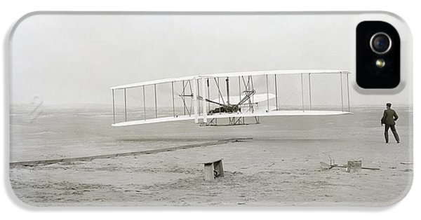 Airplane iPhone 5s Case - First Flight Captured On Glass Negative - 1903 by Daniel Hagerman