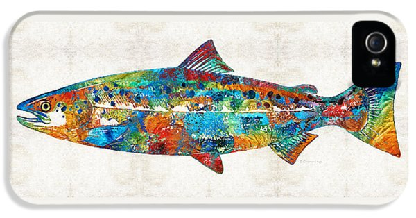 Fish Art Print - Colorful Salmon - By Sharon Cummings IPhone 5s Case
