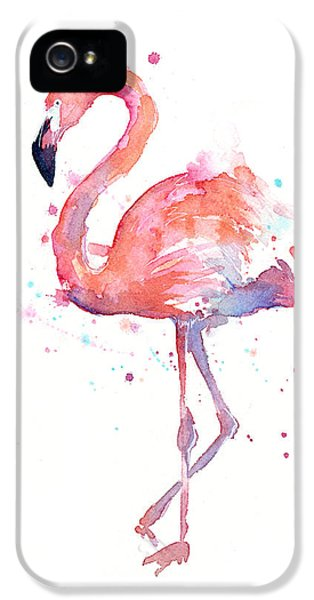 Animals iPhone 5s Case - Flamingo Watercolor by Olga Shvartsur