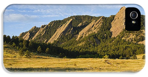 Flatirons From Chautauqua Park IPhone 5s Case by James BO  Insogna
