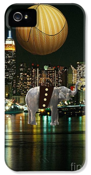 Flight Over The New York Skyline On A Hot Air Balloon IPhone 5s Case