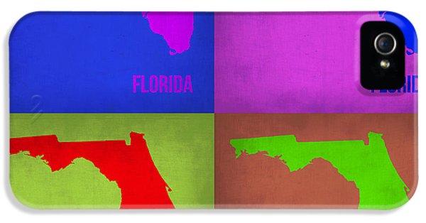 Florida Pop Art Map 1 IPhone 5s Case by Naxart Studio