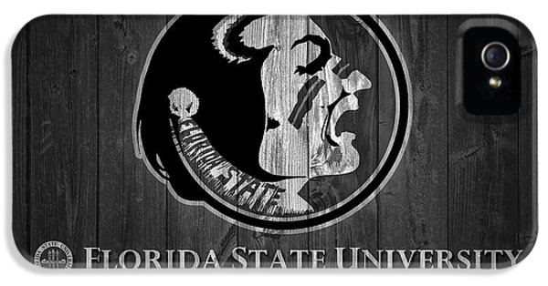 Florida State iPhone 5s Case - Florida State University Black And White Barn Door by Dan Sproul