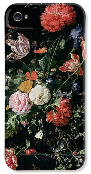 Grasshopper iPhone 5s Case - Flowers In A Glass Vase, Circa 1660 by Jan Davidsz de Heem