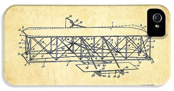 Flying Machine Patent Drawing From 1906 - Vintage IPhone 5s Case by Aged Pixel