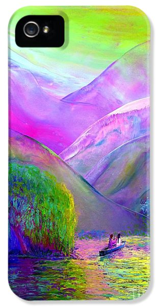 Figurative iPhone 5s Case -  Love Is Following The Flow Together by Jane Small