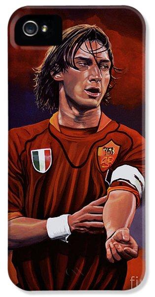 Francesco Totti IPhone 5s Case by Paul Meijering