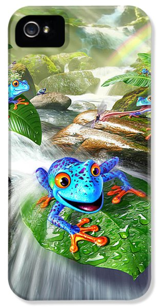 Frogs iPhone 5s Case - Frog Capades by Jerry LoFaro
