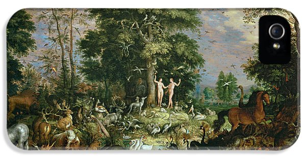 Ostrich iPhone 5s Case - Garden Of Eden by Roelandt Jacobsz Savery