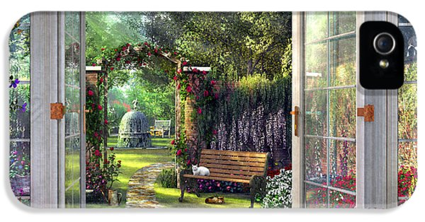 IPhone 5s Case featuring the drawing Garden View by Dominic Davison