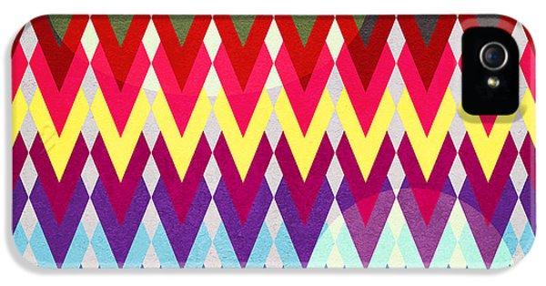 Geometric Colors  IPhone 5s Case by Mark Ashkenazi