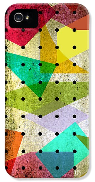 Geometric In Colors  IPhone 5s Case by Mark Ashkenazi