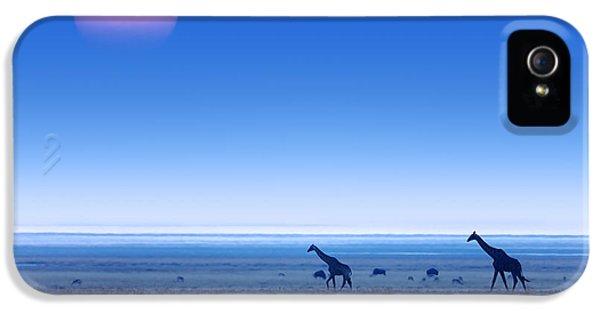 Giraffes On Salt Pans Of Etosha IPhone 5s Case by Johan Swanepoel