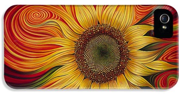 Floral iPhone 5s Case - Girasol Dinamico by Ricardo Chavez-Mendez