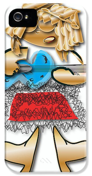 IPhone 5s Case featuring the digital art Girl Rocker 6 String Guitar by Marvin Blaine