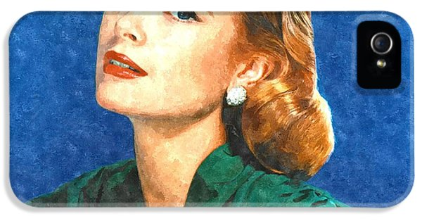 Grace Kelly Painting IPhone 5s Case by Gianfranco Weiss