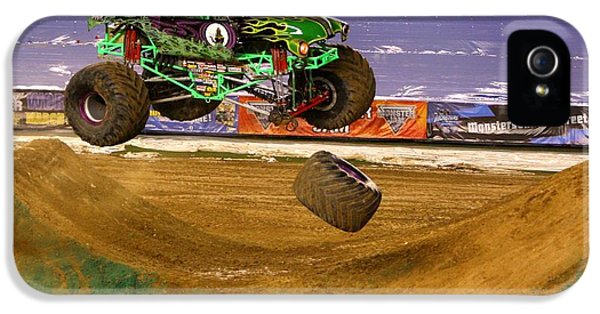 IPhone 5s Case featuring the photograph Grave Digger Loses A Wheel by Nathan Rupert