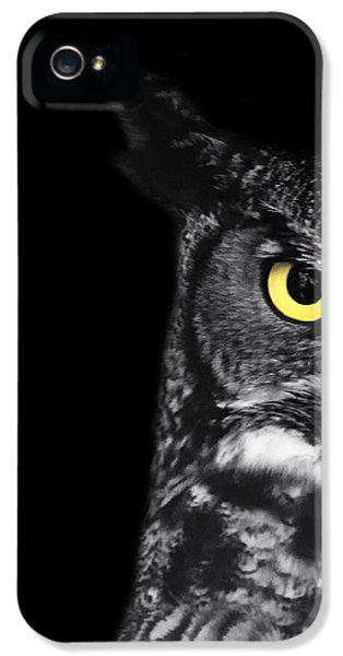 Great Horned Owl Photo IPhone 5s Case by Stephanie McDowell