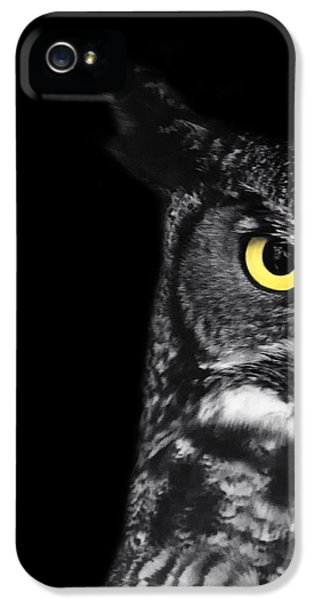 Owl iPhone 5s Case - Great Horned Owl Photo by Stephanie McDowell