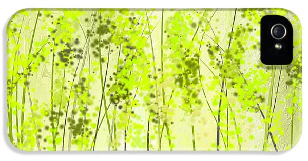 Green Abstract Art IPhone 5s Case by Lourry Legarde