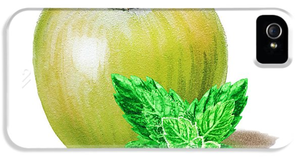 Green Apple And Mint IPhone 5s Case by Irina Sztukowski