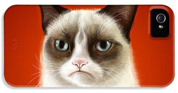 Grumpy Cat IPhone 5s Case by Olga Shvartsur