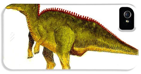 Hadrosaurus IPhone 5s Case by Michael Vigliotti